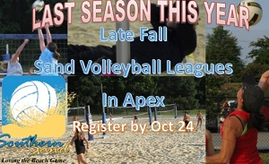 Upcoming Events: Adult Late Fall Leagues (Oct 29-Dec 10)-Register BEFORE Oct 25